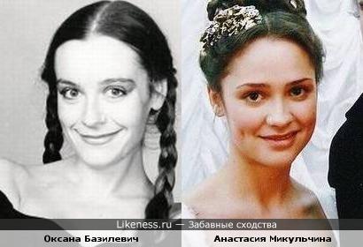 Оксана Базилевич и Анастасия Микульчина