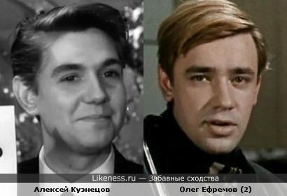 Актёры Алексей Кузнецов и Олег Ефремов (2)