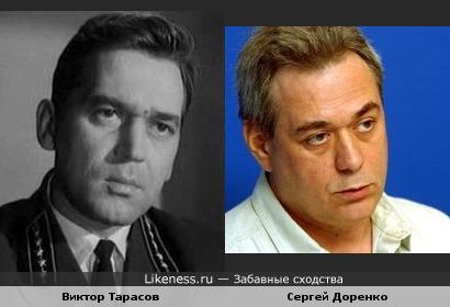 Актёр Виктор Тарасов и журналист Сергей Доренко