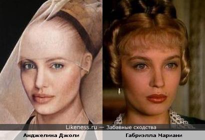 Анджелина Джоли и Габриэлла Мариани