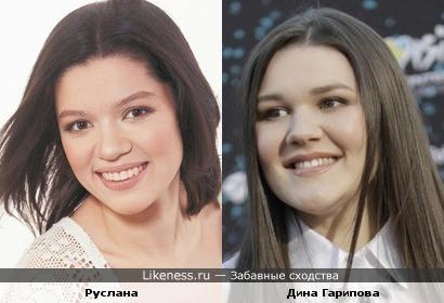 Участницы Евровидения Руслана и Дина Гарипова
