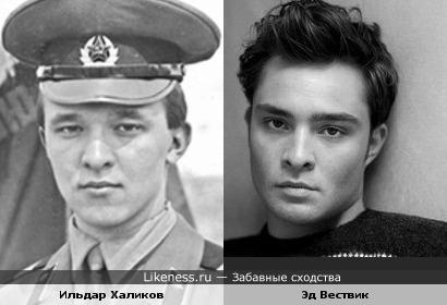 Премьер-министр Республики Татарстан Ильдар Халиков и актёр Эд Вествик