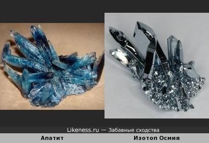 Изображения апатита и изотопа Осмия напомнили руку Терминатора