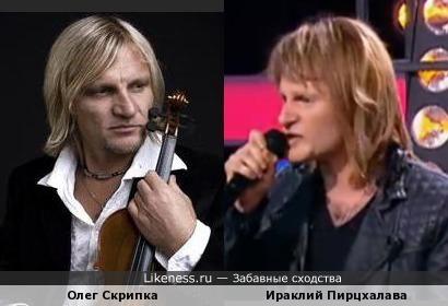 Олег Скрипка и Ираклий Пирцхалава в образе Джона Бон Джови