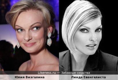 Юлия Визгалина и Линда Евангелиста