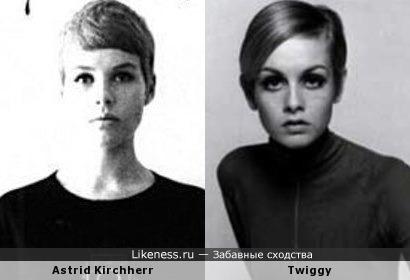 Астрид Кирхгерр на автопортрете напомнила Твигги