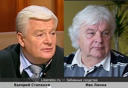 Судья Валерий Степанов и музыкант Иво Линна