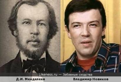 Дмитрий Иванович Менделеев и Владимир Новиков