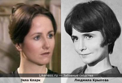 Зела Кларк и Людмила Крылова