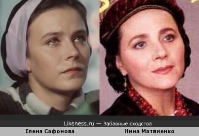Елена Сафонова и Нина Матвиенко