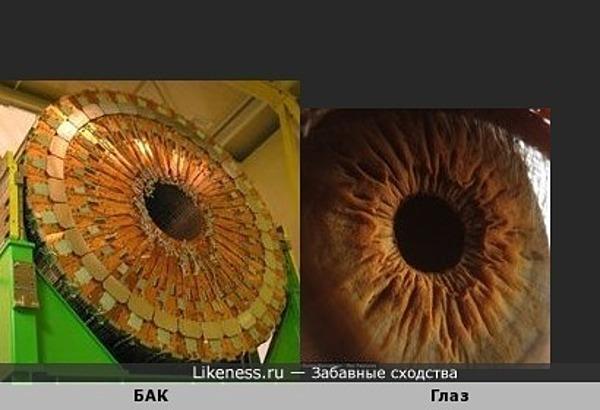 Большой адронный коллайдер и радужная оболочка глаза