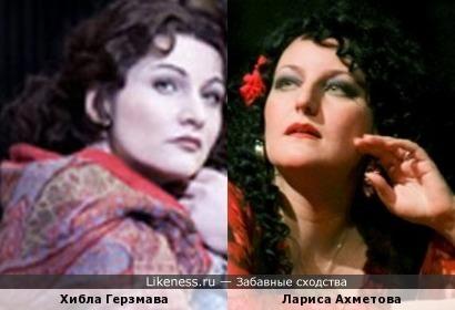Оперные певицы Хибла Герзмава и Лариса Ахметова