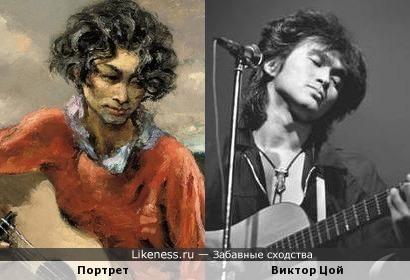 Персонаж картины Марселя Дифа напомнил Виктора Цоя