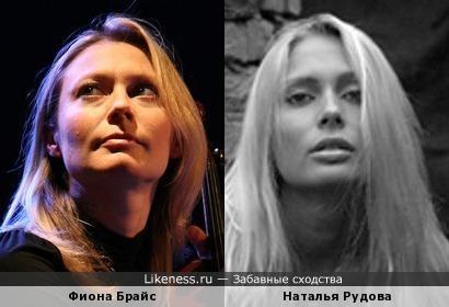 Музыкант Фиона Брайс (Placebo) и актриса Наталья Рудова