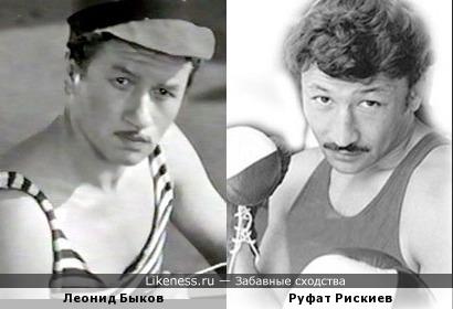 Леонид Быков и Руфат Рискиев