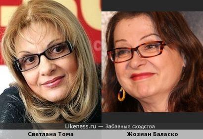 Светлана Тома и Жозиан Баласко
