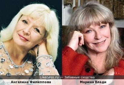 Актрисы Ангелина Филиппова и Марина Влади