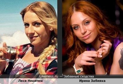 Леся Никитюк и Ирина Забияка