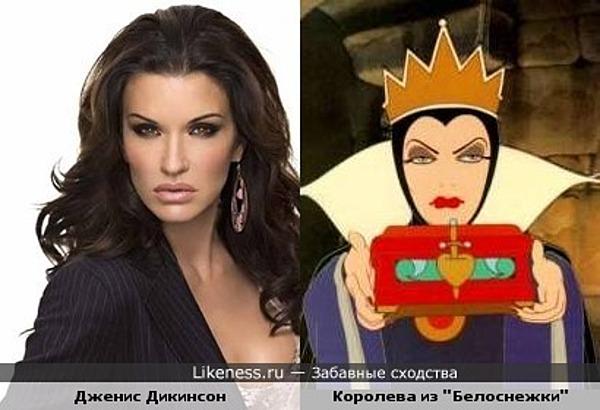 """Дженис Дикинсон похожа на злую королеву из """"Белоснежки"""""""