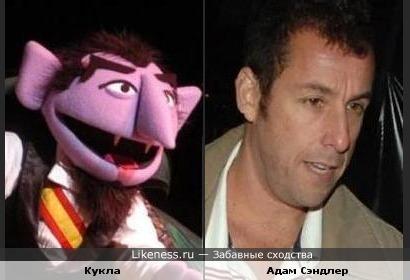 Адам Сэндлер похож на куклу-вампира