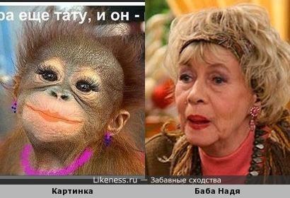 Александра Назарова в образе Бабы Нади похожа на юмористическую картинку