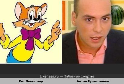Антон Привольнов похож на Кота Леопольда