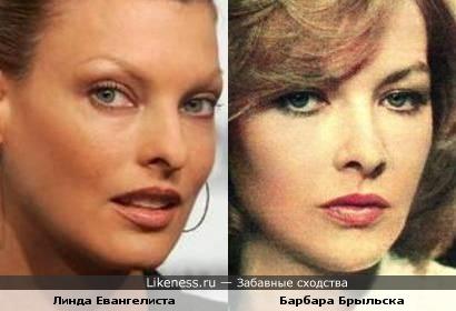 Линда Евангелиста и Барбара Брыльска