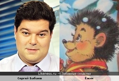 Ёжик из детской книжки похож на телевелущего Сергея Бабаева