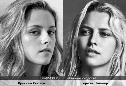 актрисы Кристен Стюарт и Тереза Палмер похожи