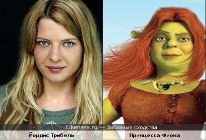 """актриса Йордис Трибель и принцесса Фиона (м/ф """"Шрек"""") немного похожи"""