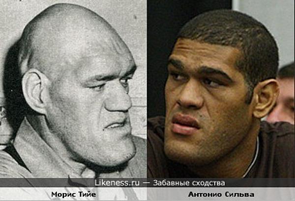 борец Морис Тийе и боец Антонио Сильва похожи