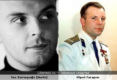 Тео Хатчкрафт (Hurts) похож на Юрия Гагарина и сам знает это