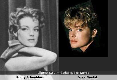 Роми Шнайдер vs Эрика Элениак