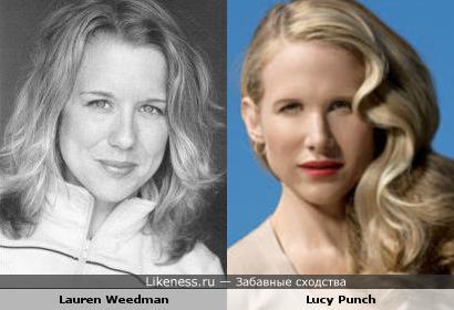 Актрисы: Лорен Уидман vs Люси Панч