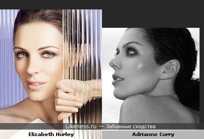Элизабет Херли vs Эдрианн Карри