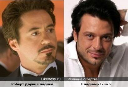 Роберт Дауни младший похож на Владимира Тишко