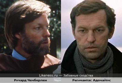 Регимантас Адомайтис похож на Ричарда Чемберлена