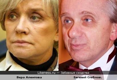 Вера Алентова после пластической операции стала похожа на Евгения Стеблова