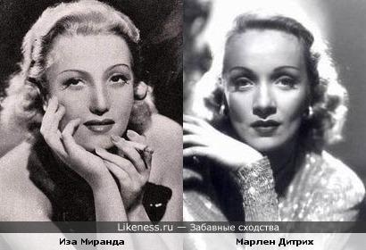Иза Миранда и Марлен Дитрих