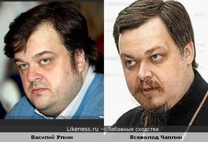 Комментатор Василий Уткин и протоирей Всеволод Чаплин