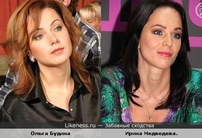 Ирина Медведева и Ольга Будина