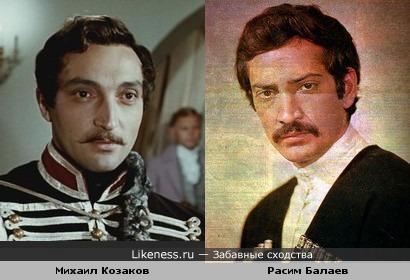Михаил Козаков и Расим Балаев... им очень идёт военная форма