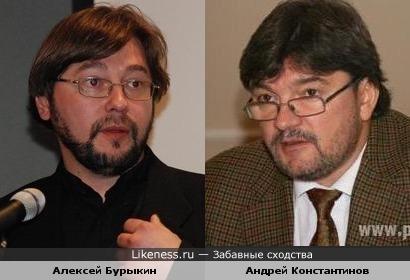 Актёр Алексей Бурыкин и журналист Андрей Константинов