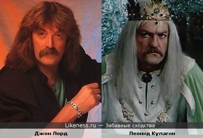 Музыкант Джон Лорд и актёр Леонид Кулагин ( в образе)
