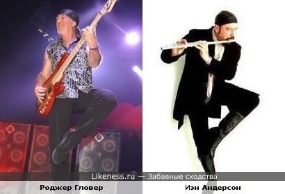 Басист Роджер Гловер ( Deep Purple) решил, что он Иэн Андерсон (Jethro Tull)