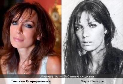 Писательница Татьяна Огородникова и актриса Мари Лафоре