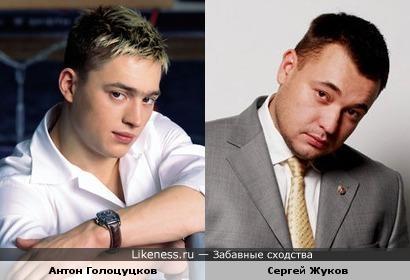 Гимнаст Антон Голоцуцков и певец Сергей Жуков