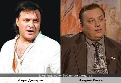 Андрей Разин и Игорь Демарин