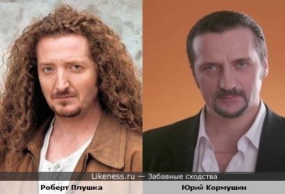 """Актёр Роберт Плушка и ведущий """"Школы выживания"""" Юрий Кормушин"""
