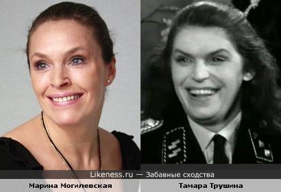 Актрисы Тамара Трушина и Марина Могилевская